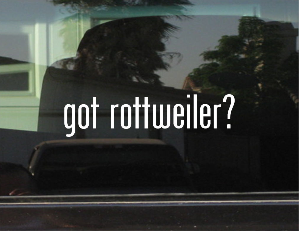 got rottweiler decal