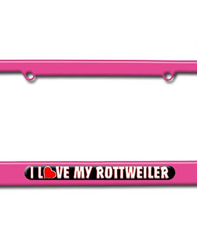 i love heart my rottweiler-Pink