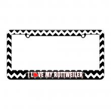 i love heart my rottweiler-black chevrons