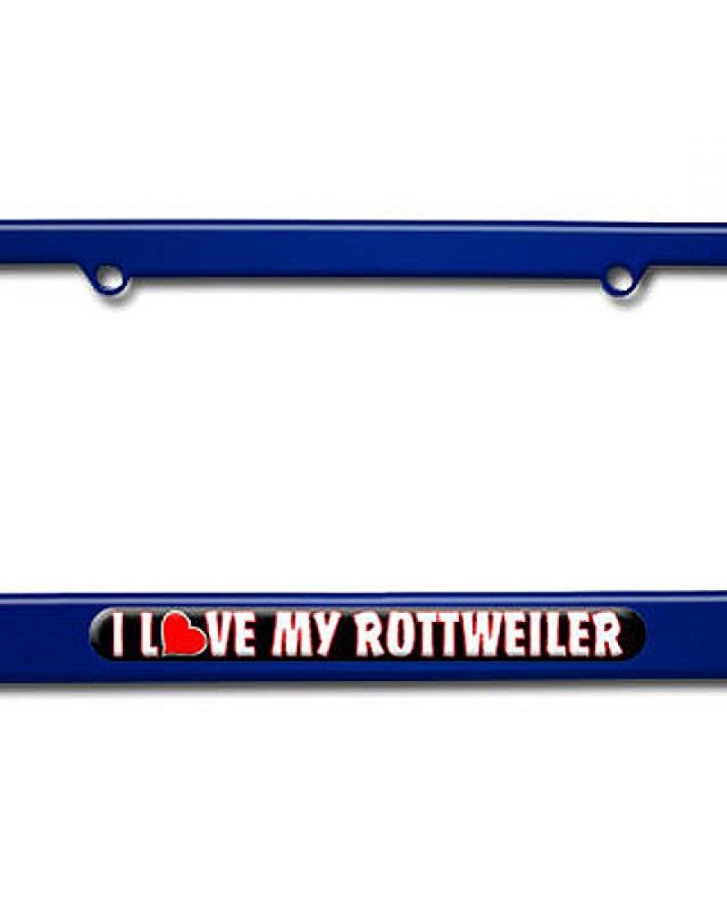i love heart my rottweiler-blue metallic