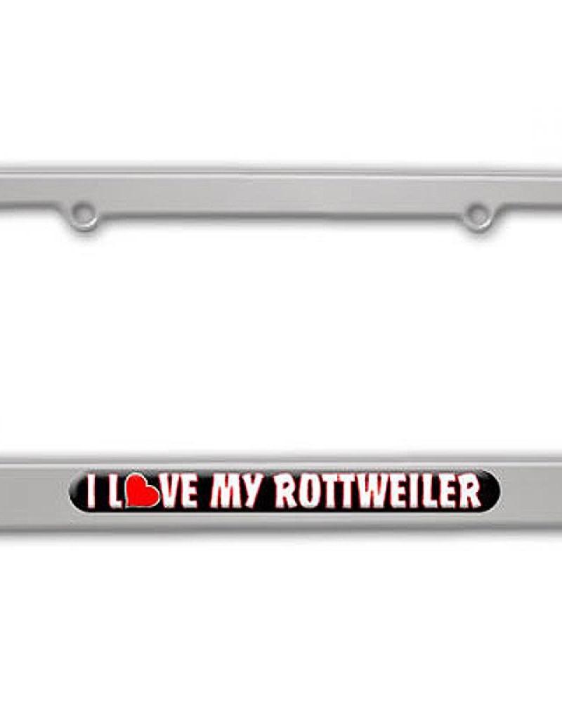 i love heart my rottweiler-silver-aluminum