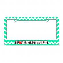 i love heart my rottweiler-teal chevrons
