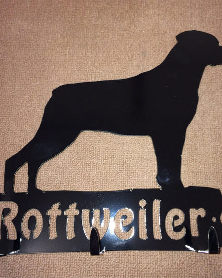 rottweiler rack key holder