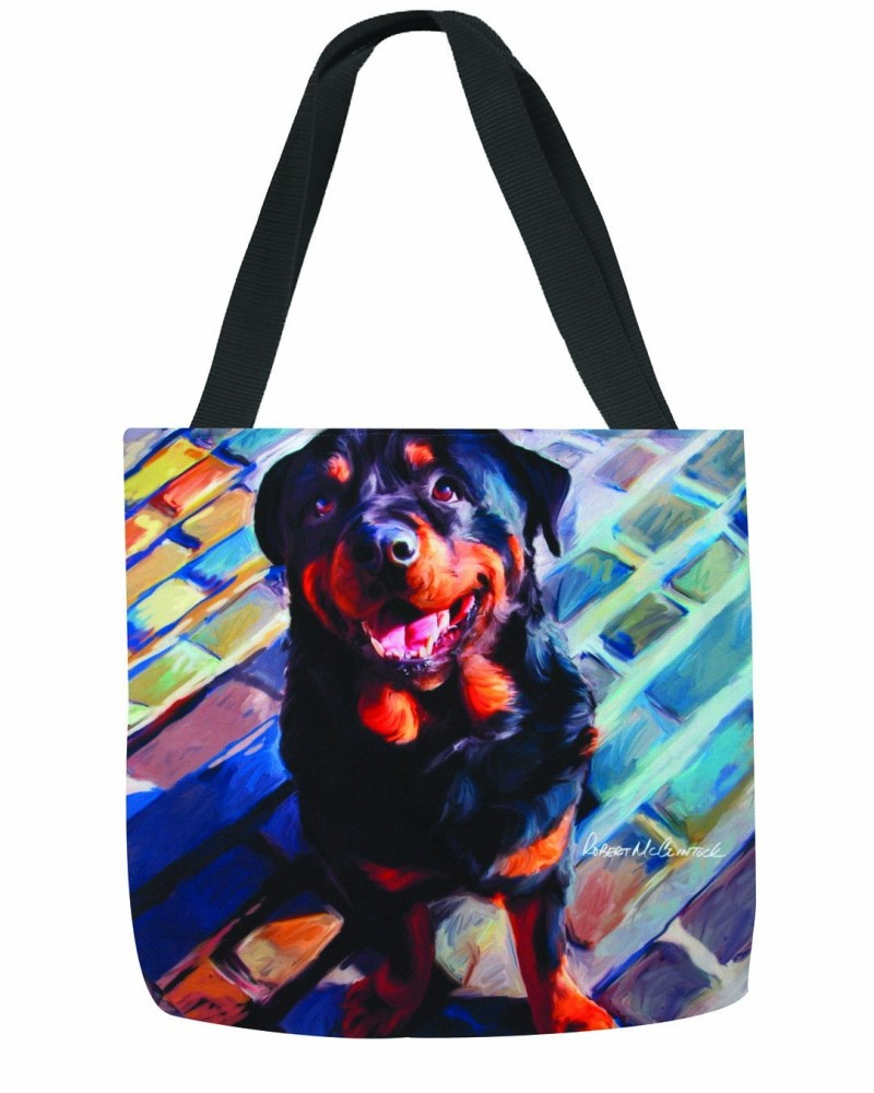 handsome rottie tote bag